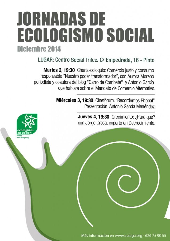 Cartel Jornadas Ecologismo Social 2014